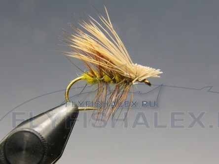 Сухая нахлыстовая мушка Elk Hair Caddis