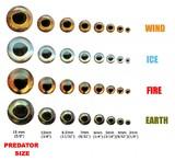 Fish-Skul супер реалистичные 3D глаза Living Eyes FIRE