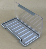 Коробочка для мушек прозрачная упрочненная Exclusive Hard Plastic 180 х 90 х 18 mm
